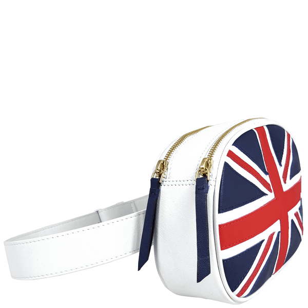 'WILSON' Union Jack Designer Leather Bum Bag