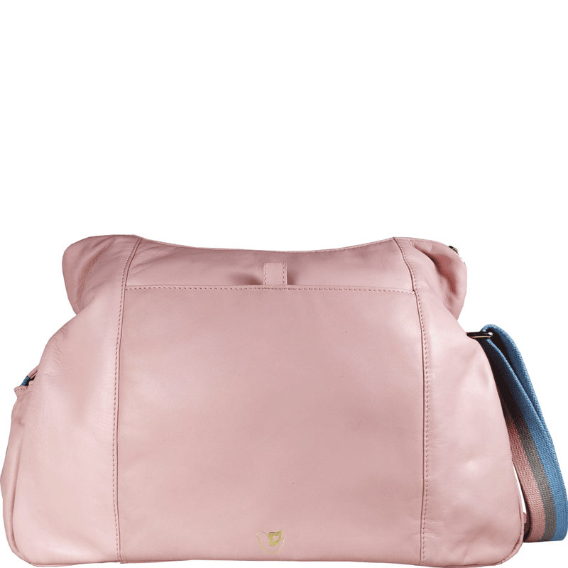 'SUZANNE' - Baby Pink Lightweight Luxurious Baby Changing/Diaper Leather Crossbody Organiser Bag