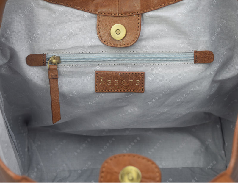 'REGENT' - Tan Vintage Leather Tote Bag