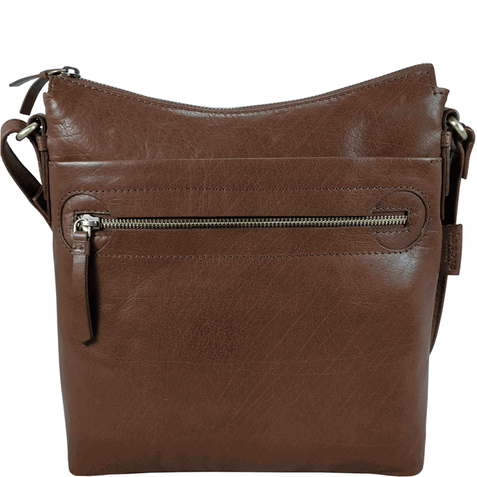 'VICTORIA' - Tan Vintage Leather Cross Body Shoulder Sling Bag