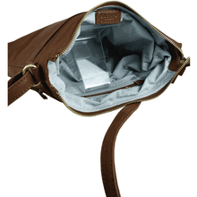 'VICTORIA' - Tan Vintage Leather Crossbody Shoulder Sling Bag