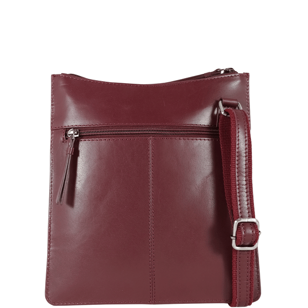 'WILLOW' - Burgundy Smooth Leather Crossbody Bag