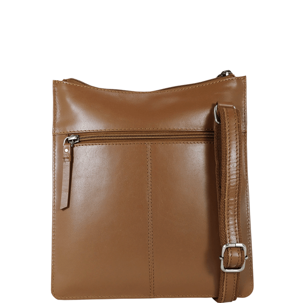 'WILLOW' Tan Smooth Leather Crossbody Bag