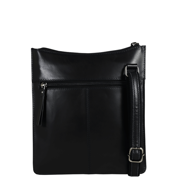 'WILLOW' - Navy Smooth Leather Crossbody Bag