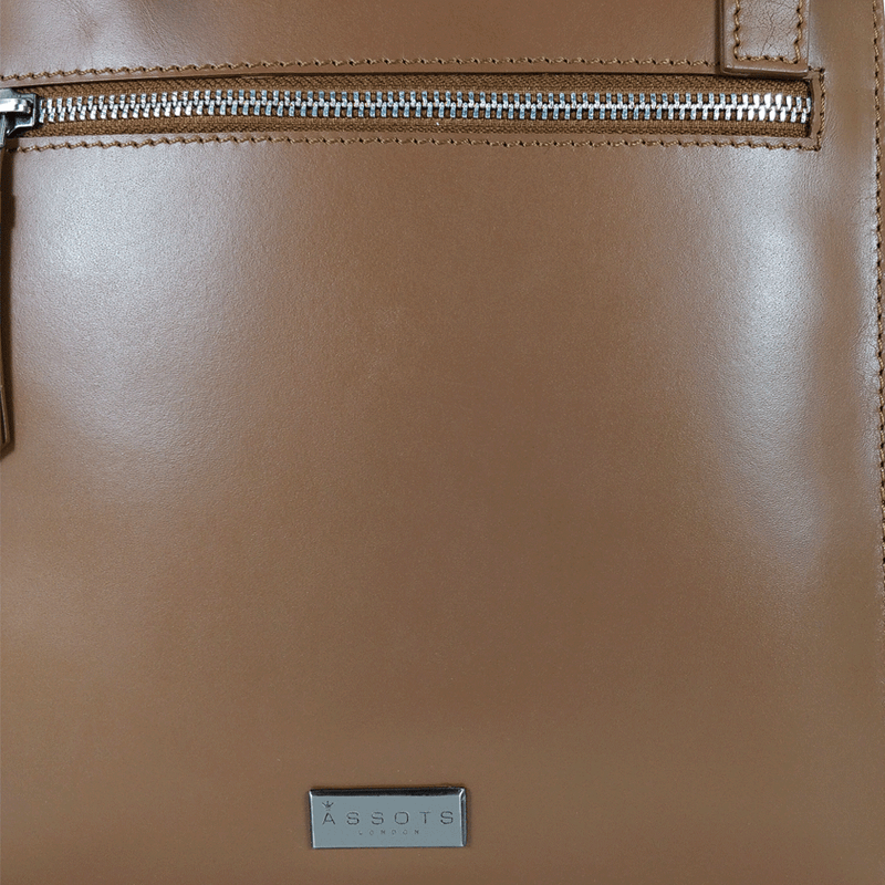 'WILLOW' - Tan Smooth Leather Crossbody Bag
