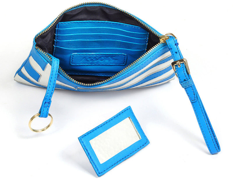 'GREEK' - Country Flag Designer Leather Clutch Purse