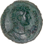 Empire Romain, Hadrien, As, 128 ap. J.-C., Rome - Avers
