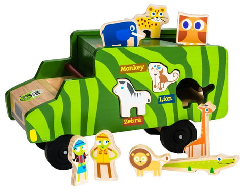PBS Kids: Safari Eco-Expedition Matching Toy & Vehicle Play Set