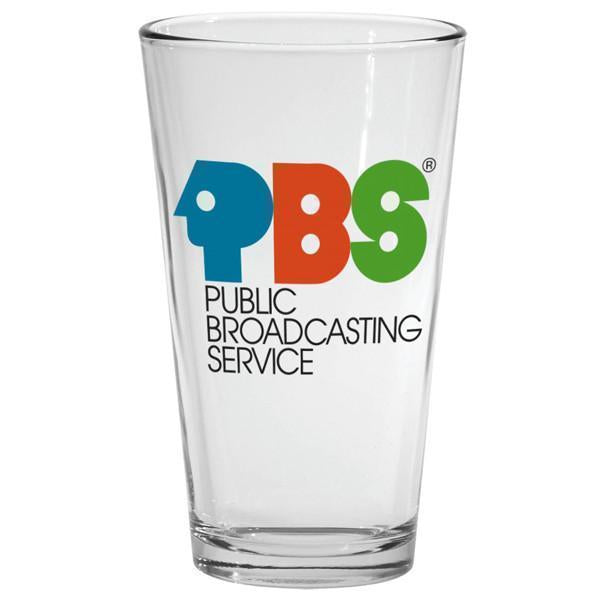 PBS Vintage Logo Drinking Glass