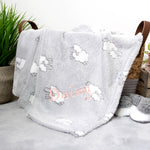 Personalised White Baby Blanket with Star