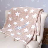 Personalised Large Pink Cellular Blanket