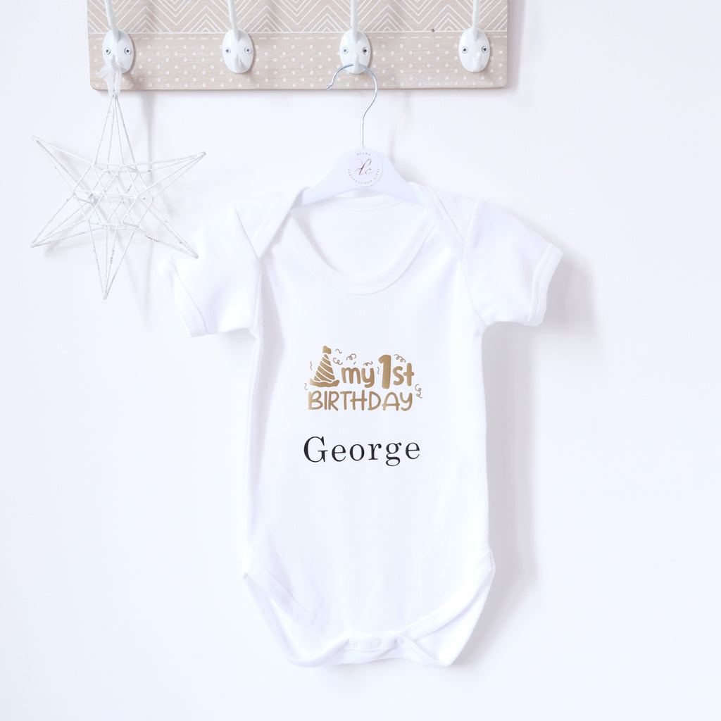 Personalised 1st Birthday Bodysuit