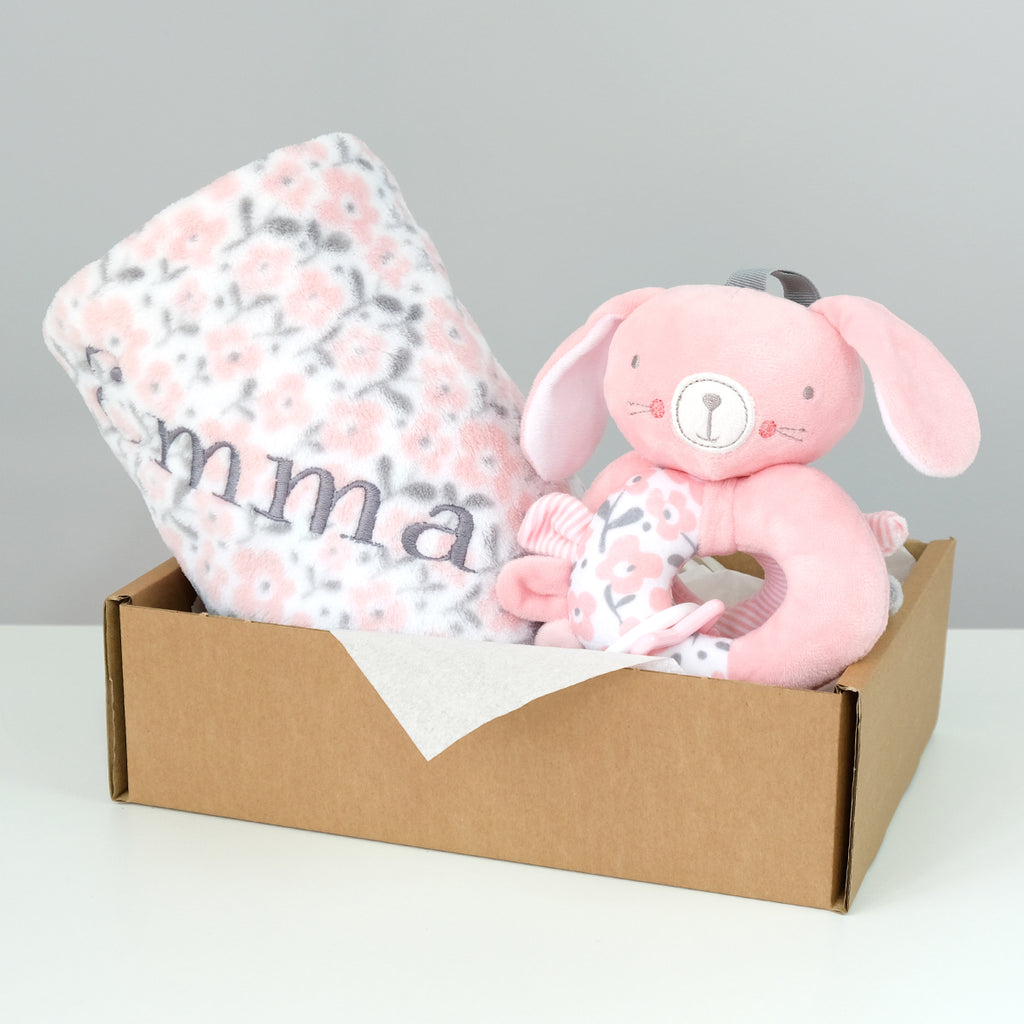 personalize a baby girl blanket for free