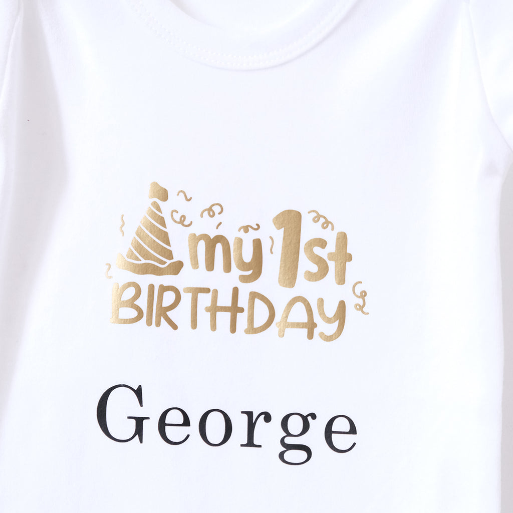 Personalised 1st Birthday Bodysuit For Kids
