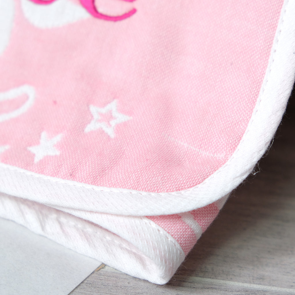 personalised pink cotton blanket for baby