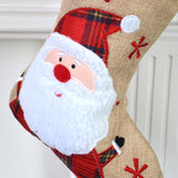Personalised Hessian Tartan Santa Christmas Stocking