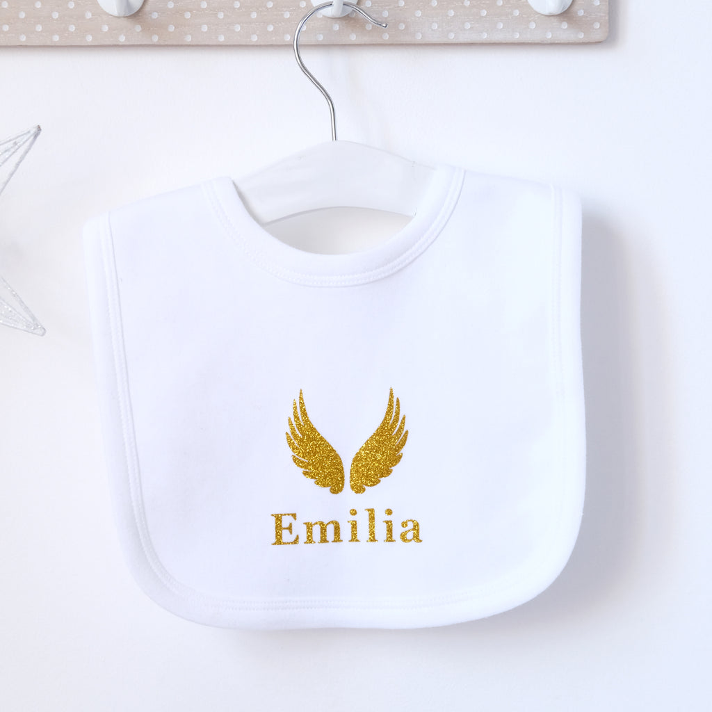 Personalised White Cotton Bib