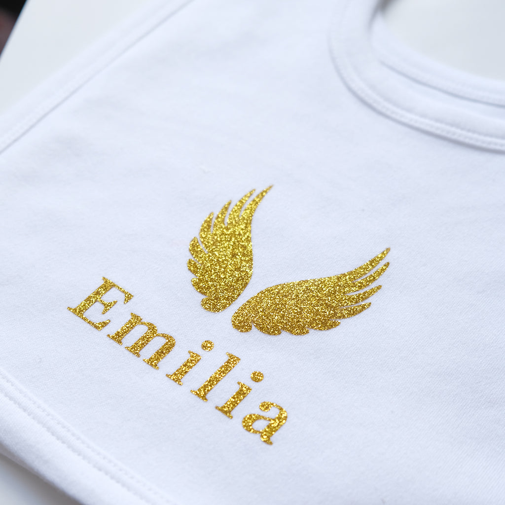 Personalised White Cotton Bib for babies