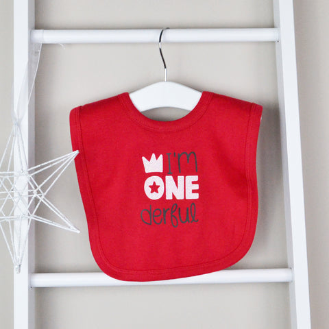Personalised 1st Birthday Glitter Bib