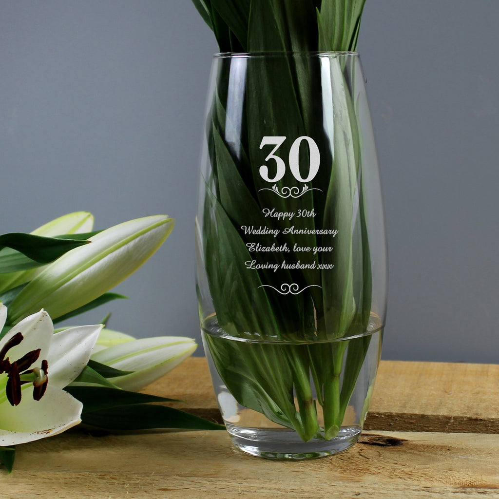 personalised flower vase