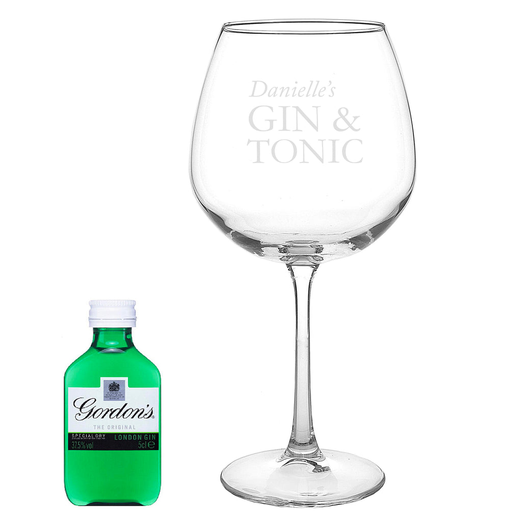 personalised gin glass uk