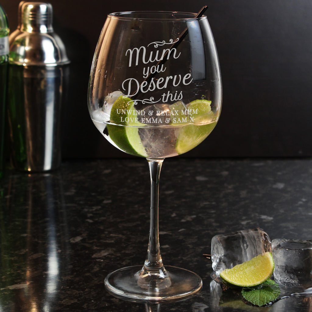 large gin glass