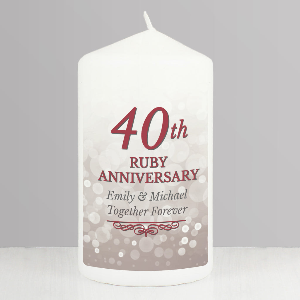 ruby 40th anniversary gifts