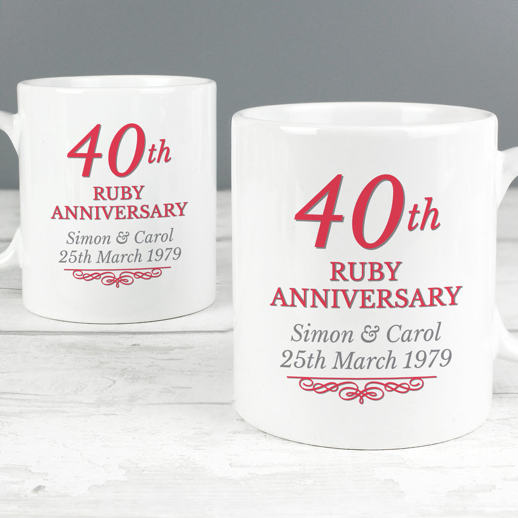 anniversary gifts 40th year