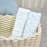 Two Blue Cotton Muslins Set