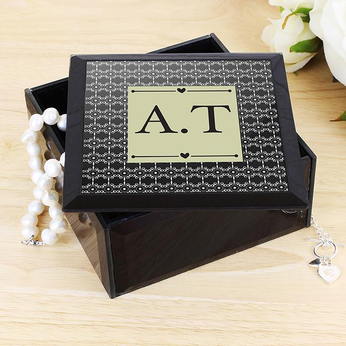 Monogram Trinket Box-Dcaro Personalised Gifts