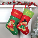 Personalised Christmas Gingerbread Lady Stocking