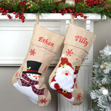Personalised Hessian Christmas Stocking