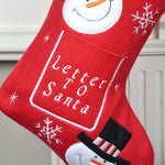 Personalised Red Letter To Santa Christmas Stocking