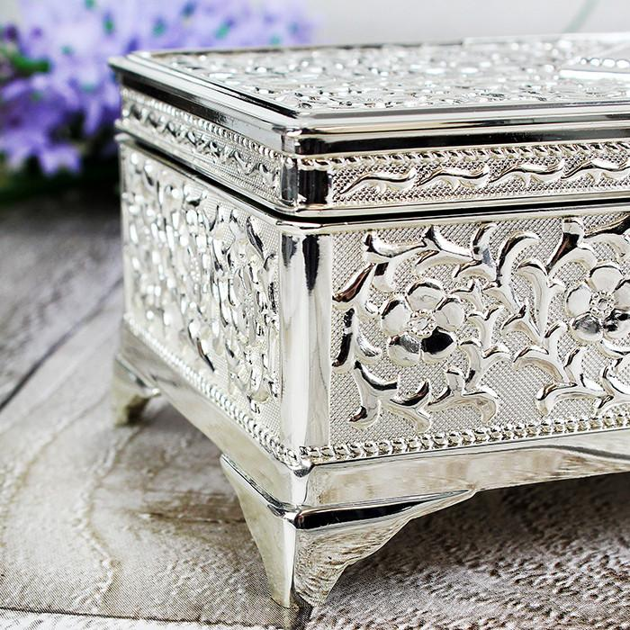 Personalised Antique Silver Plated Jewellery Box-Dcaro Personalised Gifts