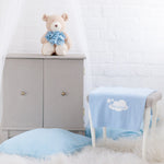 Personalised Blue Cotton Cloud Blanket-Dcaro Personalised Gifts