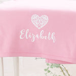 Personalised Cotton Heart Blanket-Dcaro Personalised Gifts