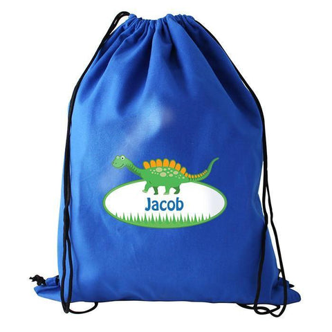 Personalised Dinosaur Swim & Kit Bag-Dcaro Personalised Gifts