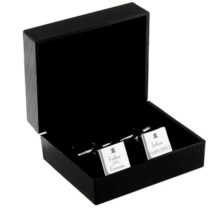 Personalised Father Of The Groom Cufflinks-Dcaro Personalised Gifts