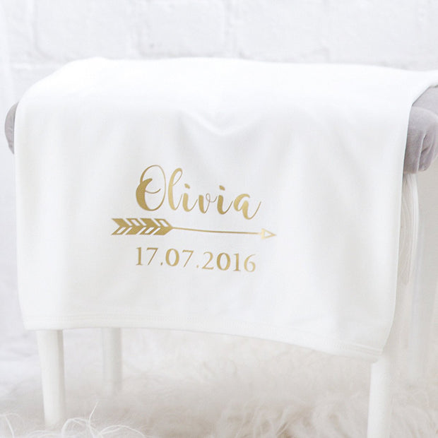 Personalised Gold Print Blanket-Dcaro Personalised Gifts
