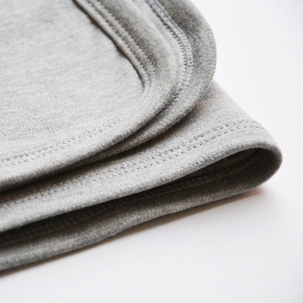 Personalised Gray Cotton Baby Blanket-Dcaro Personalised Gifts