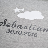 Personalised Gray Cotton Cloud Blanket-Dcaro Personalised Gifts