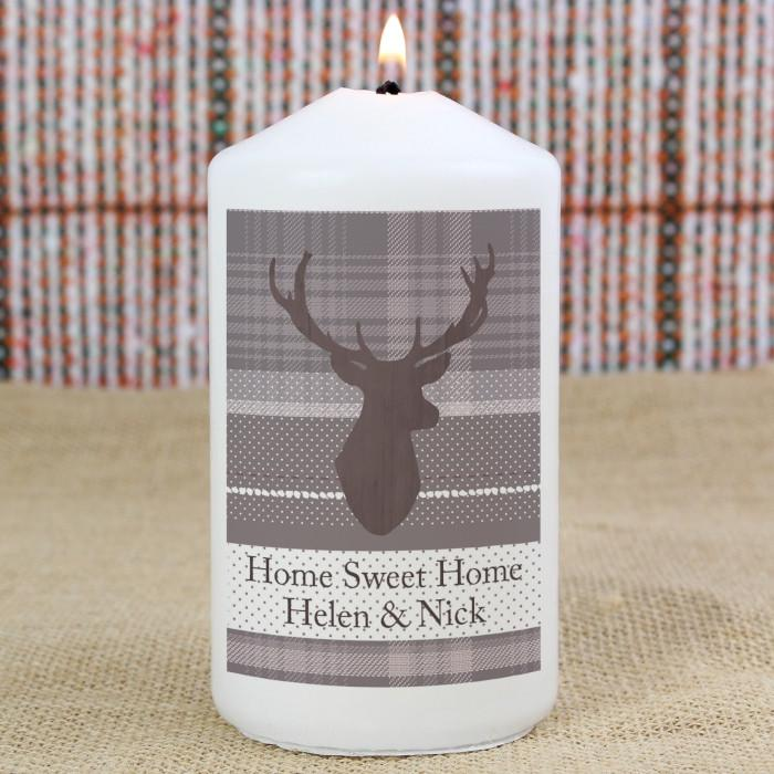 Personalised Highland Stag Candle-Dcaro Personalised Gifts