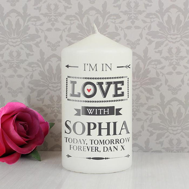 Personalised In Love With Candle-Dcaro Personalised Gifts