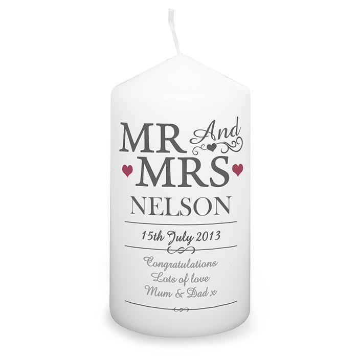 Personalised Mr & Mrs Candle-Dcaro Personalised Gifts
