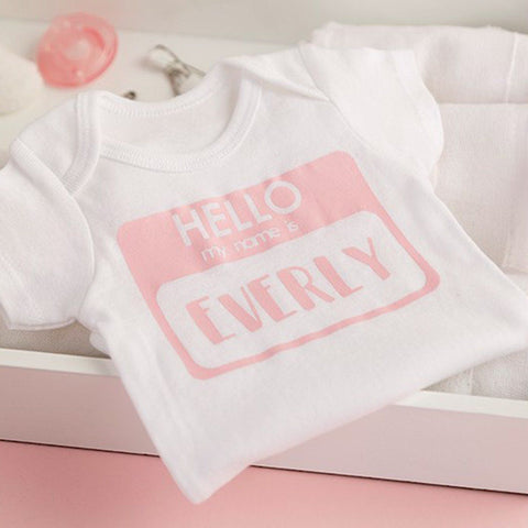 Personalised 'My Name Is' Bodysuit-Dcaro Personalised Gifts