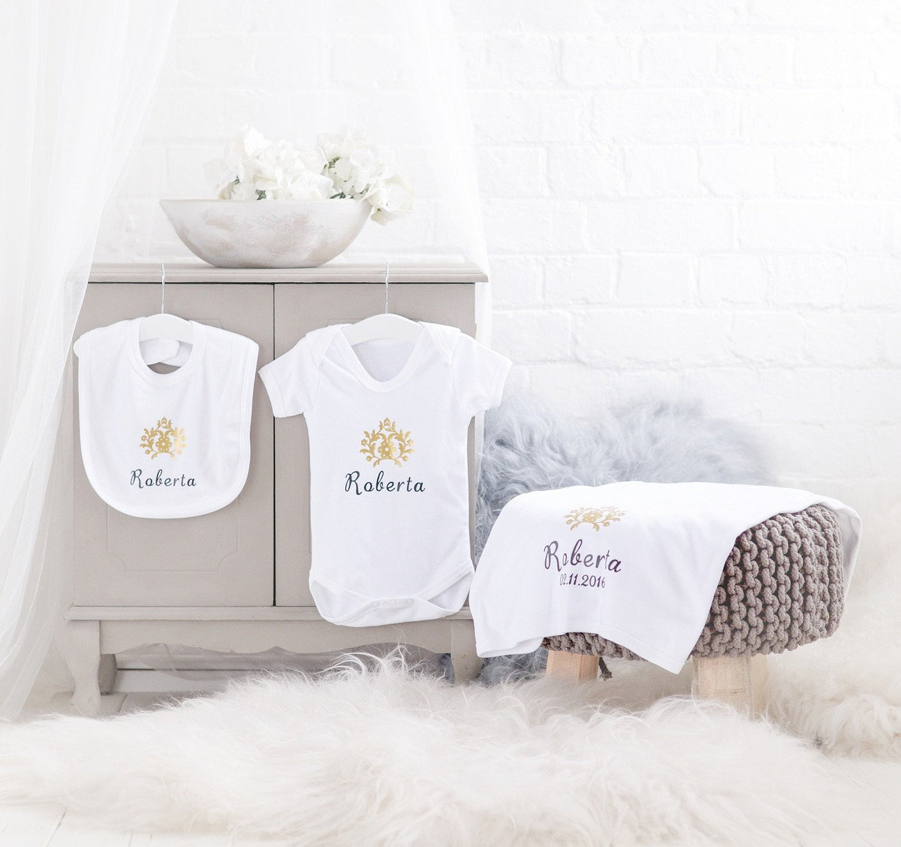 Personalised Newborn Gift Set-Dcaro Personalised Gifts