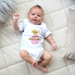 Personalised Pineapple Bodysuit-Dcaro Personalised Gifts