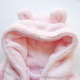 Personalised Pink Hooded Baby Robe-Dcaro Personalised Gifts