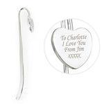 Personalised Silver Heart Bookmark-Dcaro Personalised Gifts