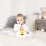 Personalised White Bunny Sleepsuit-Dcaro Personalised Gifts